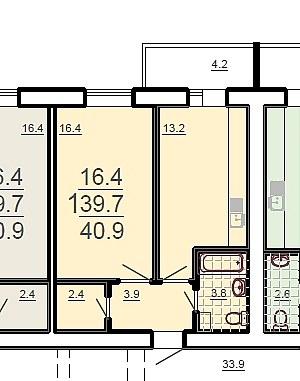 1 комнатная квартира ЖК Маршал