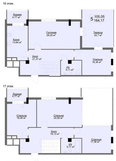 Продам 5 к двухуровневую квартиру по ул. Минская