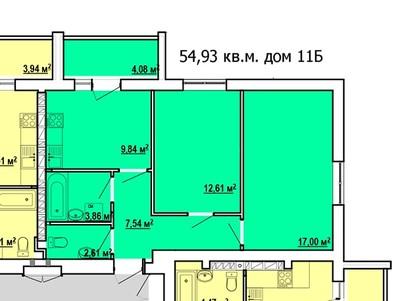 2 комнатная квартир на ул. Ньютона