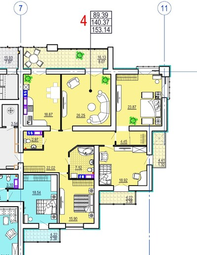 4 комнатная квартира ул. Сумская,35