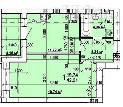 1 комнатная квартира на метро ХТЗ