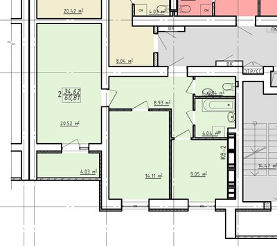 """ЖК """"Левада 2"""" предлагаем 2 квартиры 60 кв.м."""