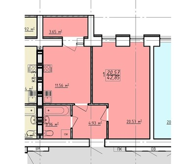 1 комнатная квартира ЖК Левада 2