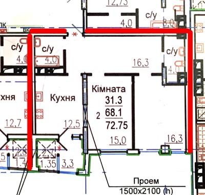 ЖК Авиационный, 2 комнатная квартира