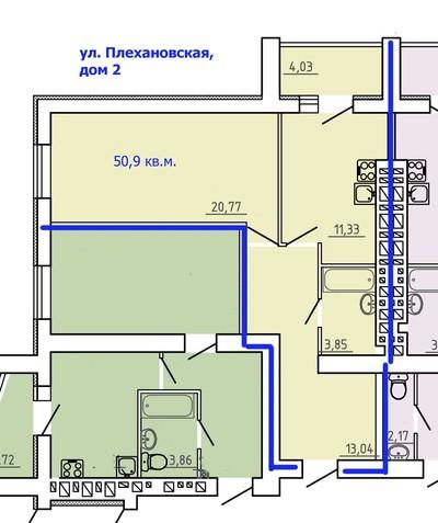 1 комнатная квартира в новстройке на ул. Плехановская
