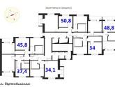 ЖК Металлист план секции Б