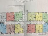 План квартир в ЖК Гидропарк дом 8А,Б 1 этаж