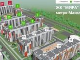 ЖК Мира 1, схема размещения домов